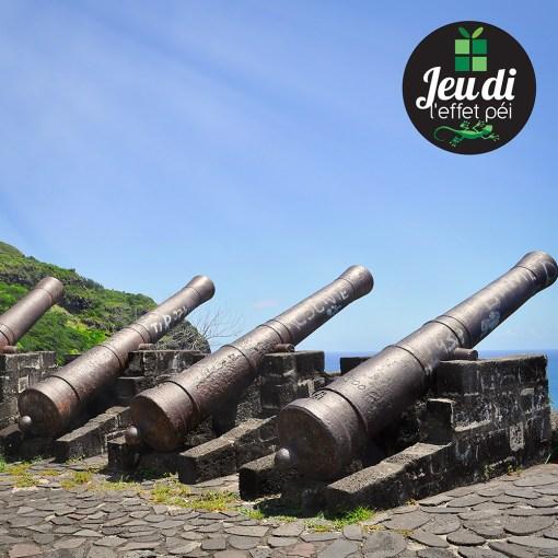 Sur quelle célèbre route de la Réunion se trouvent ces canons ?