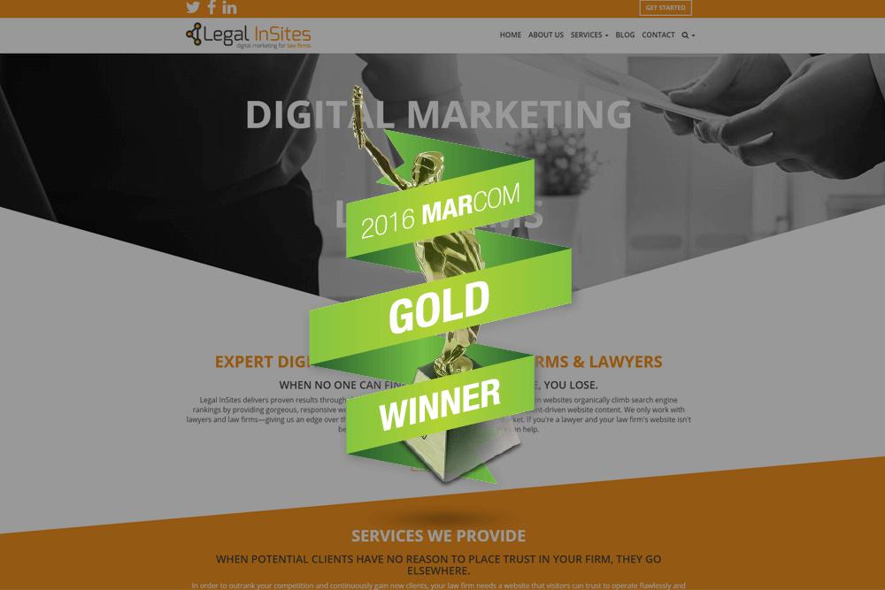 Legal InSites Wins Prestigious Gold MarCom Award