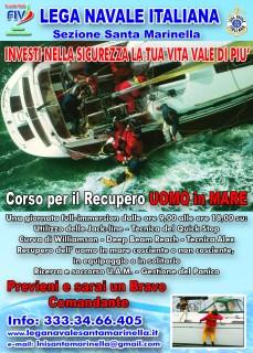 LNI Santa Marinella - uomo in mare