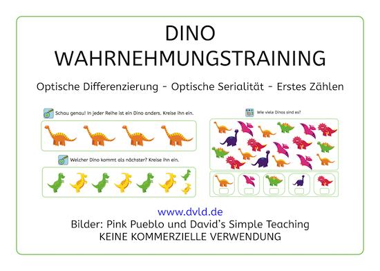 Dino, Legasthenie, Legasthenietraining, Dyskalkulie, Dyskalkulietraining, optisches Gedächtnis, Wahrnehmung, AFS-Methode