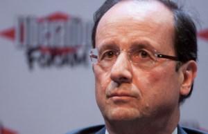 François Hollande partage