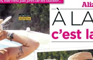 Alizee et Gregoire Lyonnet ne se lâchent plus en Corse