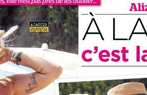 Alizee, sans Gregoire Lyonnet,  deprime