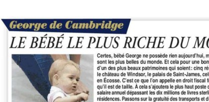 fils de Kate Middleton bebe le plus riche du monde