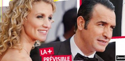 Jean Dujardin et Alexandra Lamy deballage