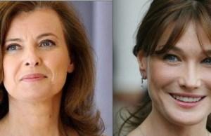 Carla Bruni-Sarkozy de tout coeur avec Valérie Trierweiler