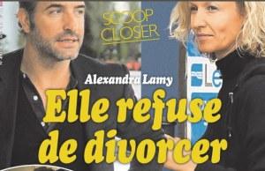Alexandra Lamy, Jean Dujardin dit non au psy