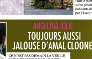 Angelina Jolie, encore très jalouse d'Amal Alamuddin