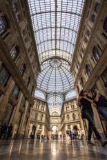 inside view of galleria umberto i