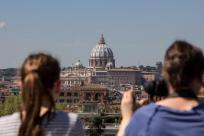 st. peter's basilica from distance