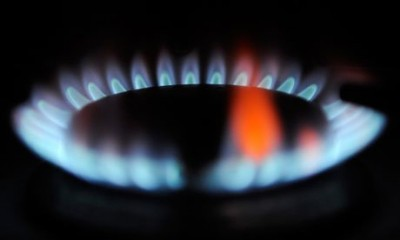 gas flame with orange