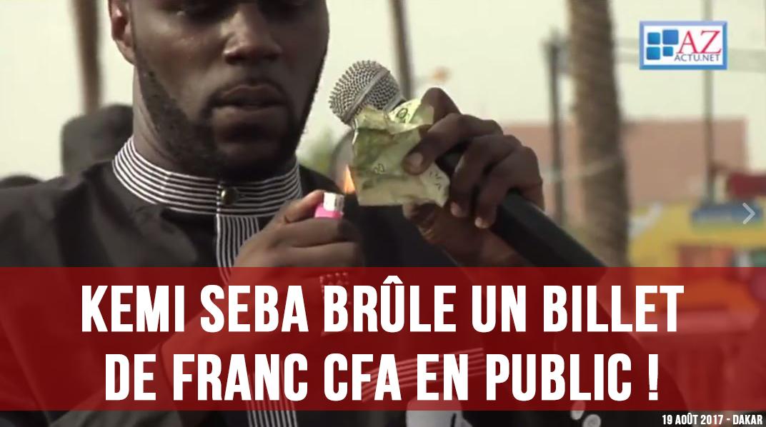 Message de Kémi Séba aux « chances pour la France »  - Page 9 Kemi-Seba-brume-billet-Franc-CFA