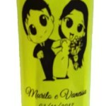 Copos Long Drink Verde de Acrilico para Casamento
