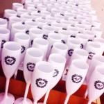 Taças de acrilico personalizadas M e F