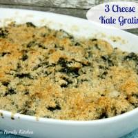 3 Cheese Kale Gratin