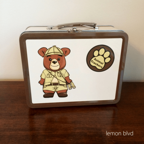 Animal Trackers Lunchbox - lemon blvd