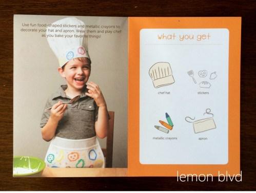 lemon blvd - Kiwi Crate Review - Chef Dress Up Book
