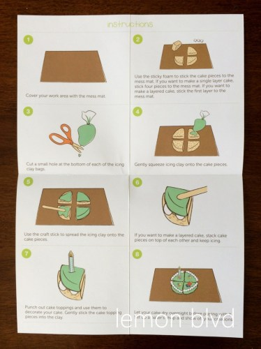 lemon blvd - Kiwi Crate Review - frosted cake instructions