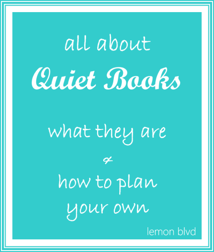 All About Quiet Books - lemon blvd