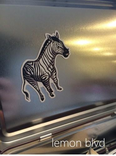 Animal Trackers Zebra Magnet - lemon blvd