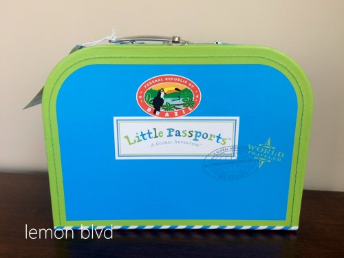 Little Passports Review - Suitcase with Luggage Sticker - lemon blvd