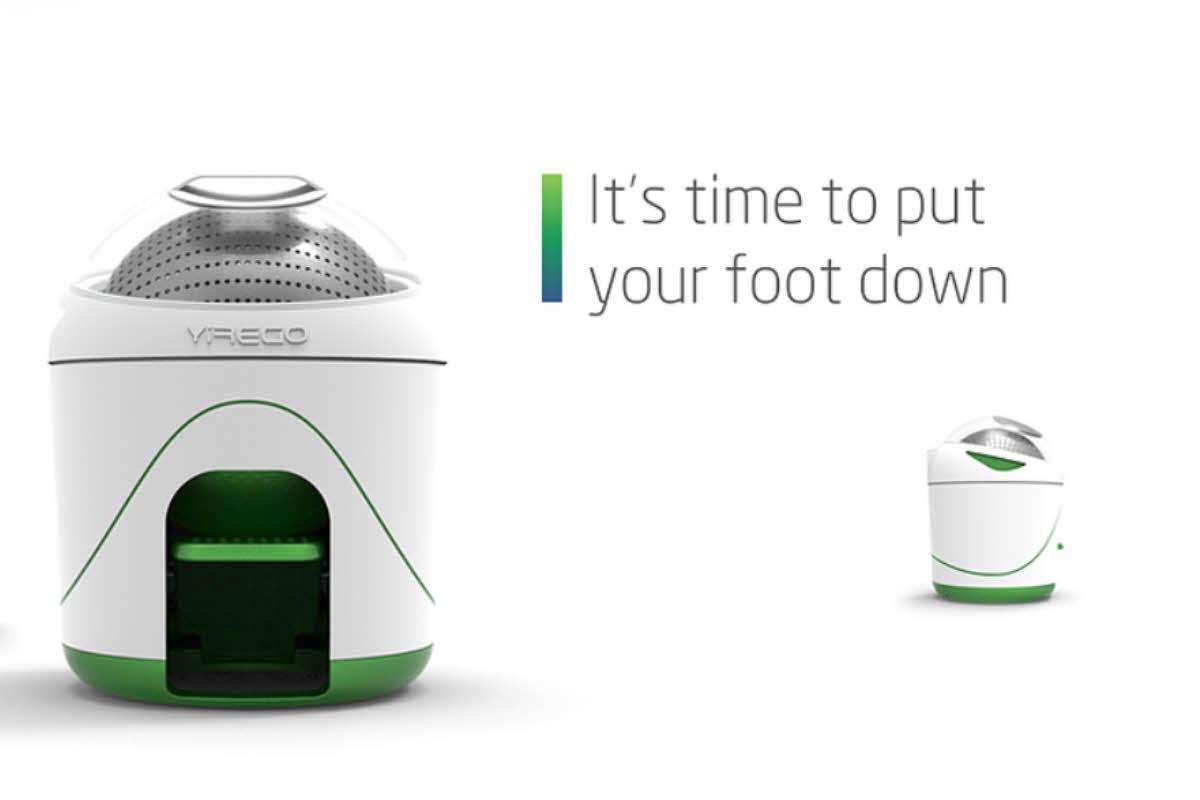 Machine à laver Drumi ou les économies d'énergie au bout du pied