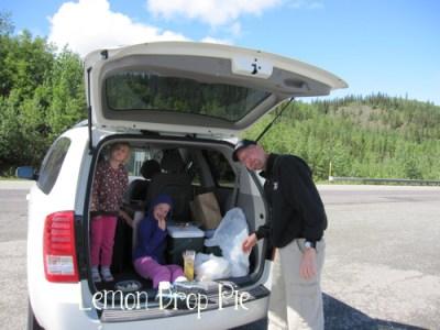 picnic in a van