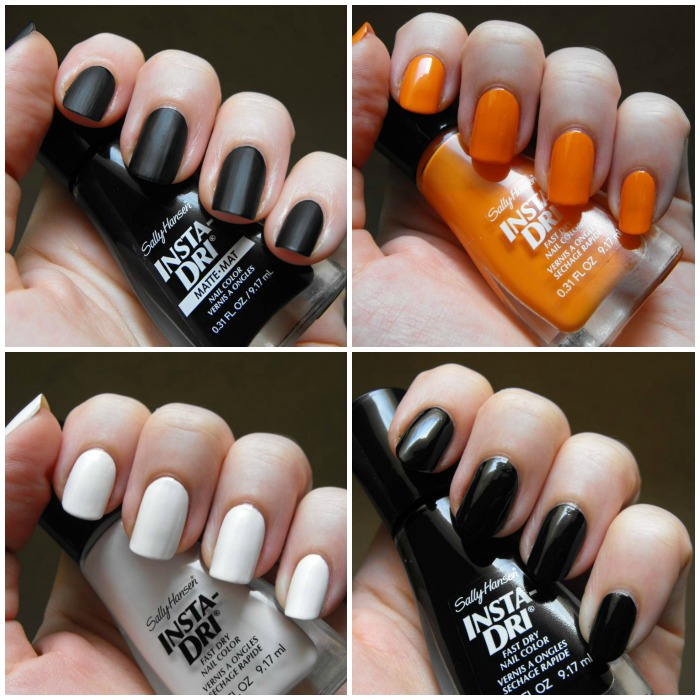 SallyHansen Insta-Dri Halloween 2014 collage