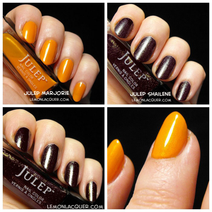 Julep Marjorie and Julep Shailene collage