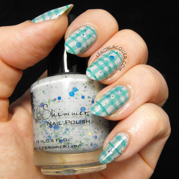 Flannel plaid stamping