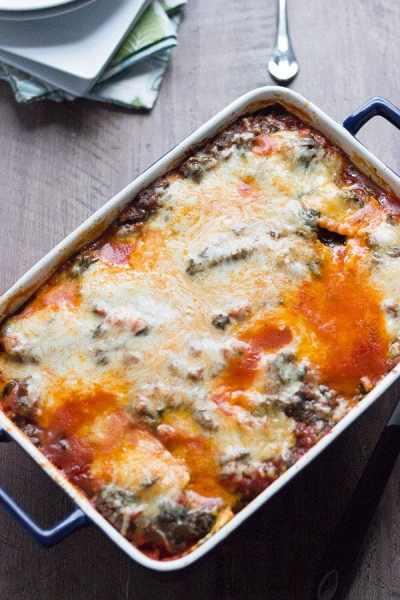 Spinach and Ravioli Lasagna - LemonsforLulu.com