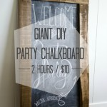Giant DIY Party Chalkboard