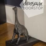 Over Here: DIY Dino Doorstop