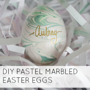 DIY PASTEL MARBLED EASTER EGGS