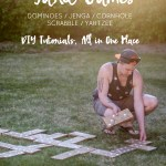 5 DIY Yard Games, Hours of Fun (Jenga/Dominoes/Yahtzee)
