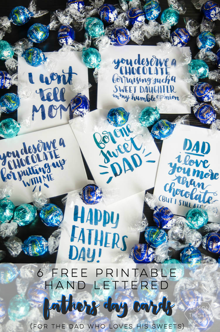 I love these cheeky fathers day cards! Perfect for the dad who loves his chocolate