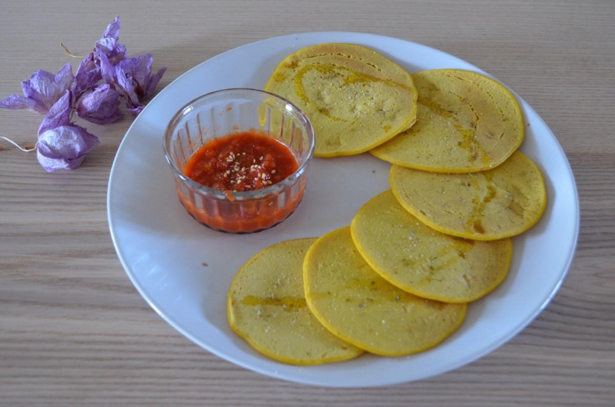 Tortitas saladas de harina de garbanzo Veganas