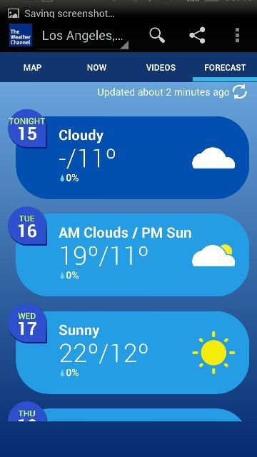 The Weather Channel via inlovewithandroid.com