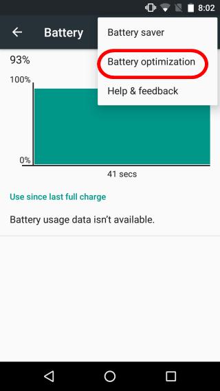Pilih Battery Optimization