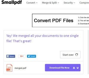 small pdf download merge pdf