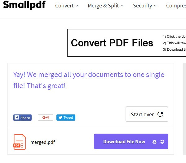 small pdf download merge pdf