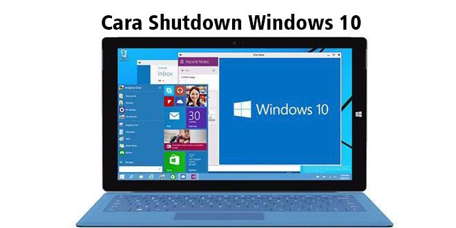 Cara Shutdown Windows 10 - Lemoot
