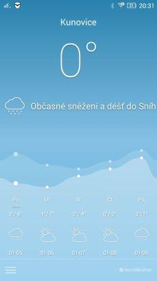 aplikace počasí