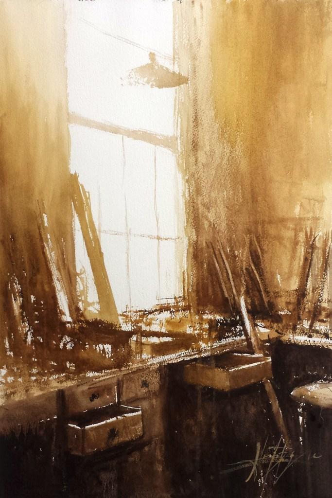 Lumière dans l'atelier © Alexis Le Borgne