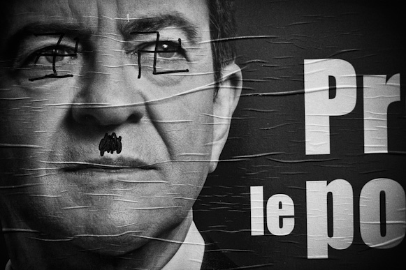 French political ethics with a taste of vandalism. Jean-Luc Melanchon