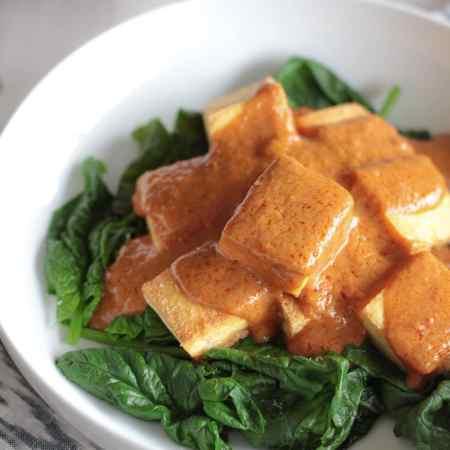 Tofu with Thai Peanut Sauce
