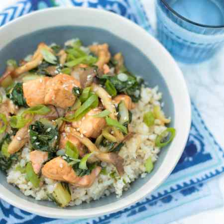 Hoisin Glazed Salmon Bowls