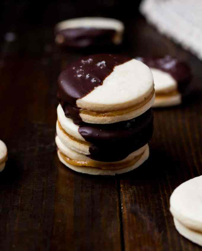 Dark Chocolate Alfajores with Sea Salt