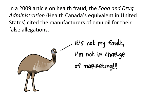 FDA blames emu oil manufacturers for their false allegations