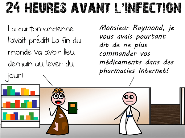 24 heures avant l'infection